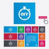 Timer off sign icon. Stopwatch symbol. — Stock Photo