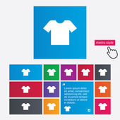 T-shirt sign icon. Clothes symbol. — Stock Photo