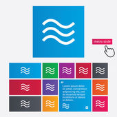 Water waves sign icon. Flood symbol. — Stock Photo