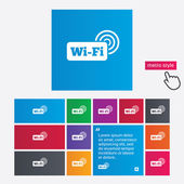Free wifi sign. Wifi symbol. Wireless Network. — Stock Photo