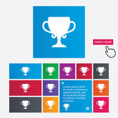 Winner cup sign icon. Awarding of winners. — Stock Photo