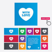 Heart sign icon. With Love symbol. — Stock Photo