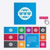WWW sign icon. World wide web symbol. — Stock Photo