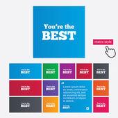 あなたの最高のアイコンです。顧客賞シンボル. — ストック写真