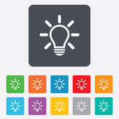 Light lamp sign icon. Idea symbol. — Vector de stock