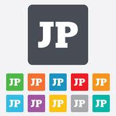 日本语言符号图标。jp 翻译 — 图库矢量图片