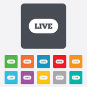 Live sign icon. On air stream symbol. — Stock Vector