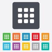 Miniatury mřížky ikona. symbol zobrazení galerie. — Stock vektor