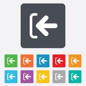 Login sign icon. Sign in symbol. Arrow. — Vector de stock