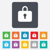 Lock sign icon. Locker symbol. — Vector de stock