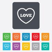 сердце знак значок. символ любви. — Cтоковый вектор