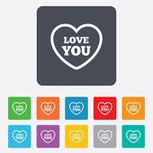 Heart sign icon. Love you symbol. — Cтоковый вектор