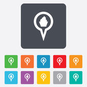 Mapa ukazatele potravin ikona podepsat. symbol značky. — Stock vektor