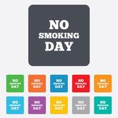 No smoking day sign icon. Quit smoking day. — Vector de stock