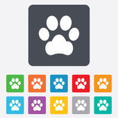 Dog paw sign icon. Pets symbol. — Vector de stock