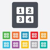 ícone de sinal de teclado de celular. símbolo de dígitos. — Vetor de Stock