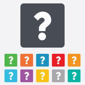 Question mark sign icon. Help symbol. — Vector de stock