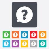 Vraagteken teken pictogram. Help symbool. — Stockvector