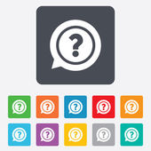 Question mark sign icon. Help symbol. — Stock Vector