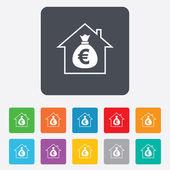 Icona del segno di ipoteca. immobiliare simbolo. — Vettoriale Stock