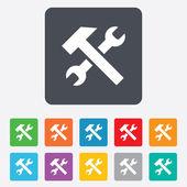 Naprawa narzędzie znak ikona. usługi symbol. — Wektor stockowy