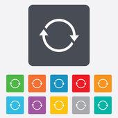 Rotation icon. Repeat symbol. Refresh sign. — Vector de stock