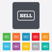 Sell sign icon. Contributor button. — Stock Vector