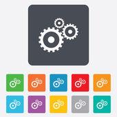 Cog settings sign icon. Cogwheel gear symbol. — Stock Vector