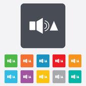 Speaker volume louder sign icon. Sound symbol. — Stock Vector