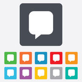 Chat sign icon. Speech bubble symbol. — Stock Vector