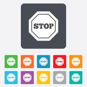 Traffic stop sign icon. Caution symbol. — Vector de stock