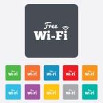 Постер, плакат: Free wifi sign Wifi symbol Wireless Network
