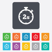 Timer 2s sign icon. Stopwatch symbol. — Stock Vector