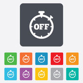 Timer off sign icon. Stopwatch symbol. — Stock Vector