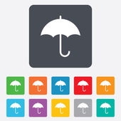 Umbrella sign icon. Rain protection symbol. — Stock Vector
