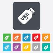 изображение знака палку usb 3.0. кнопка флэш-накопитель usb — Cтоковый вектор