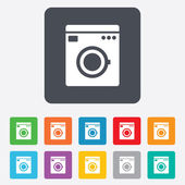 Washing machine icon. Home appliances symbol. — Stock Vector