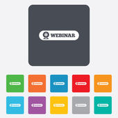 Webinar web camera sign icon. Online Web study. — Stock Vector