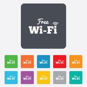 Free wifi sign. Wifi symbol. Wireless Network. — Vector de stock