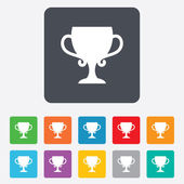 Winner cup sign icon. Awarding of winners. — Stock Vector