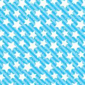 Seamless grunge star texture. Blue background. — Vecteur