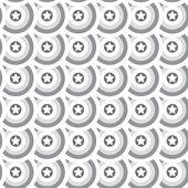 Seamless star texture. Gray circles background — Vecteur