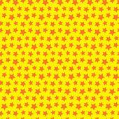 Seamless texture étoile. fond jaune orange. — Vecteur