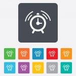 Alarm clock sign icon. Wake up alarm symbol. — Stock Vector #47129907