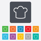 Chef hat sign icon. Cooking symbol. — Vector de stock