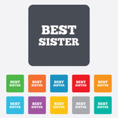 Best sister sign icon. Award symbol. — Vector de stock