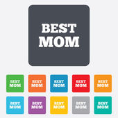 Best mom sign icon. Award symbol. — Vector de stock