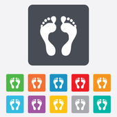Human footprint sign icon. Barefoot symbol. — Stock Vector