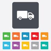 Delivery truck sign icon. Cargo van symbol. — Stock vektor