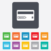 Credit card sign icon. Debit card symbol. — Stock Vector